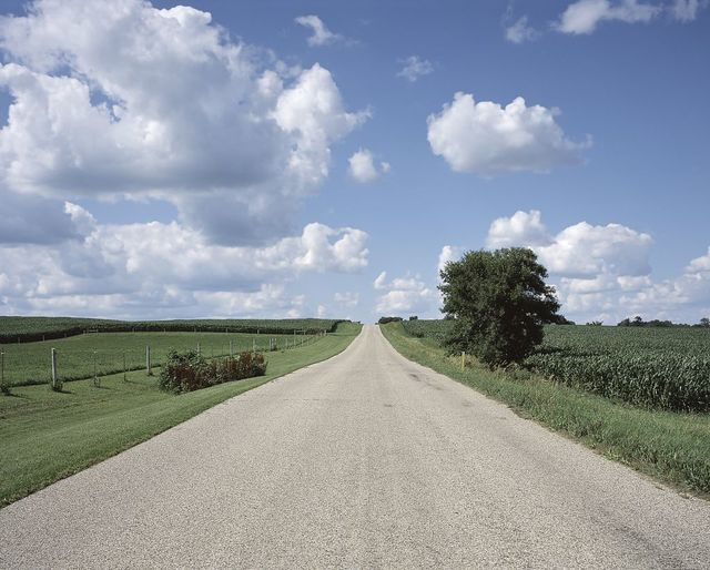 Country road in rural America