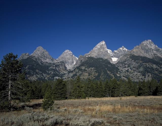 Craggy peaks of Grand Teton National Park, Jackson, Wyoming