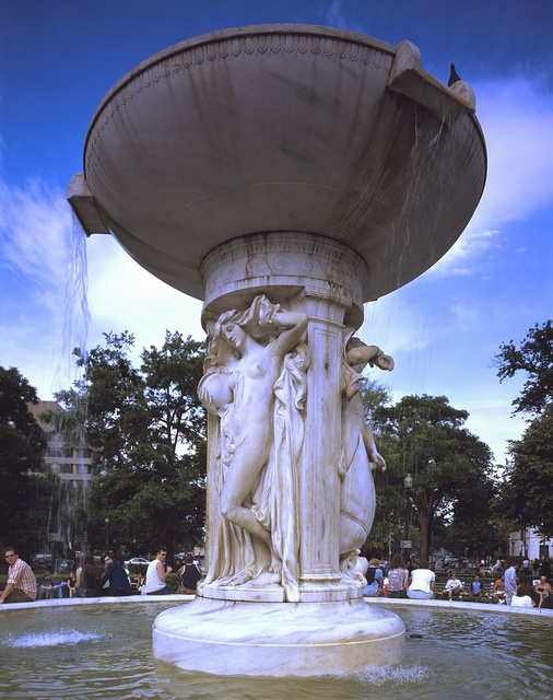 Daniel Chester French's fountain, commissioned by the DuPont family and erected in 1920 at Dupont Circle, Washington, D.C.