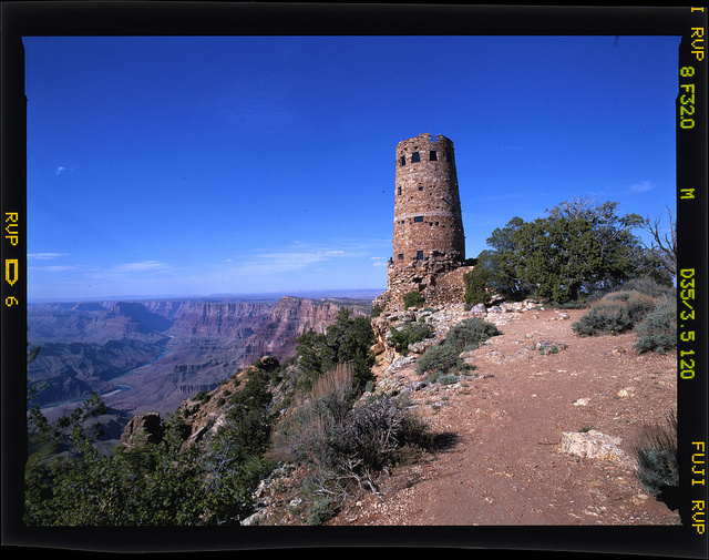 [Desert View Watchtower, located on the South Rim of the Grand Canyon within Grand Canyon National Park, Arizona]