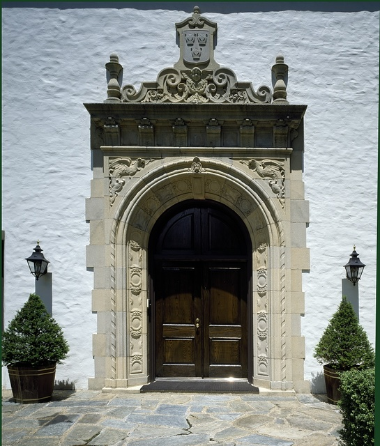 Detail of the doorway to the residence of the Ambassador of Sweden in Washington, D.C.
