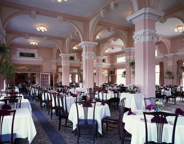 Dining room at the Mount Washington Hotel and Resort, Bretton Woods, New Hampshire