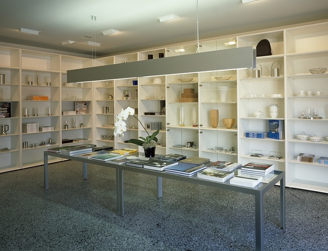 Display inside the gift shop at the Farnsworth House, the National Trust for Historic Preservation property in Plano, Illinois