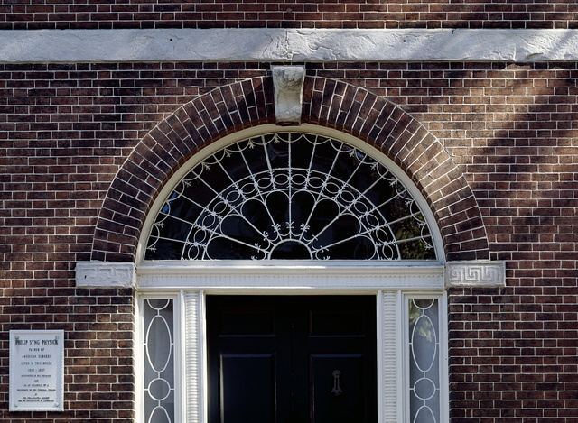 Door detail at the former home of Philip Syng Physick, Philadelphia, Pennsylvania