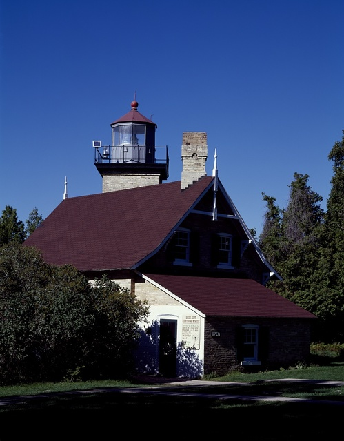 Eagle Bluff Lighthouse, now a museum in Door County's Peninsula State Park, Sister Bay, Wisconsin