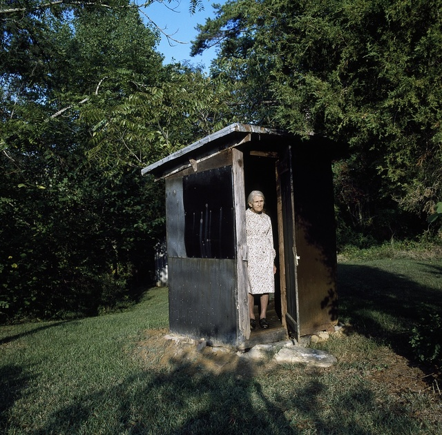 Elderly woman in rural Madison, North Carolina