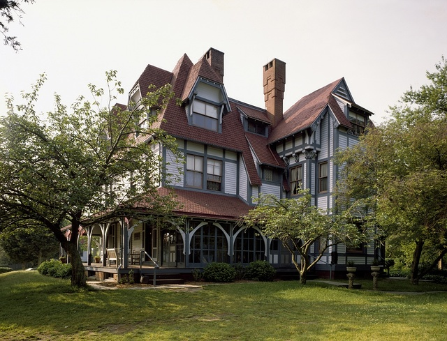 """Emlen Physick House, designed in the """"Stick Style"""" by architect Frank Furness, Cape May, New Jersey"""