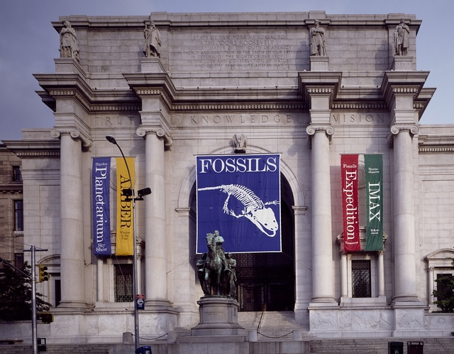 Entrance to the American Museum of Natural History and Hayden Planetarium, New York, New York