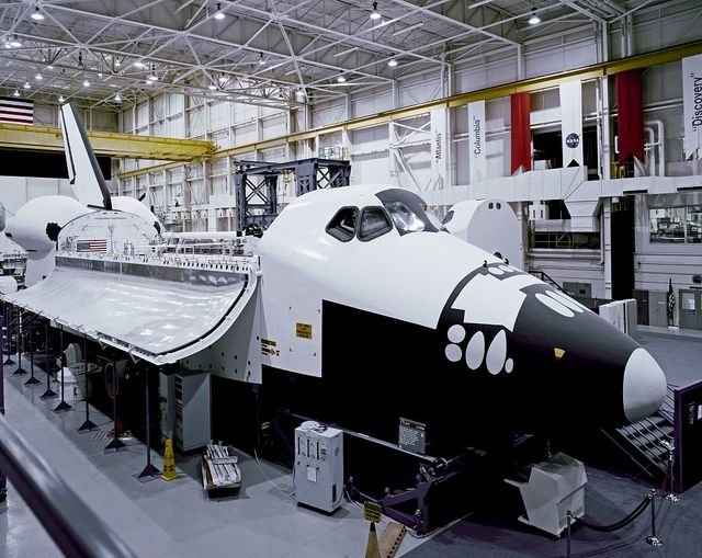 Exact shuttle mock-up at Space Center, Houston, Texas