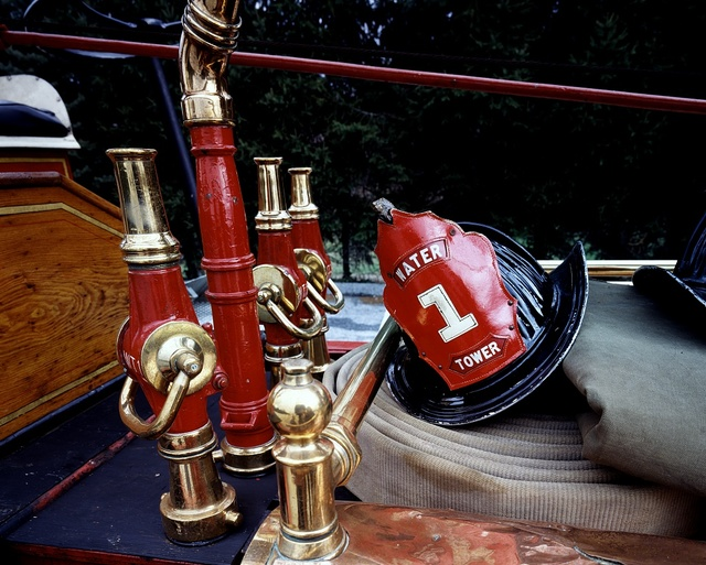 Exhibits at the Fire Museum of Maryland in Lutherville, Maryland