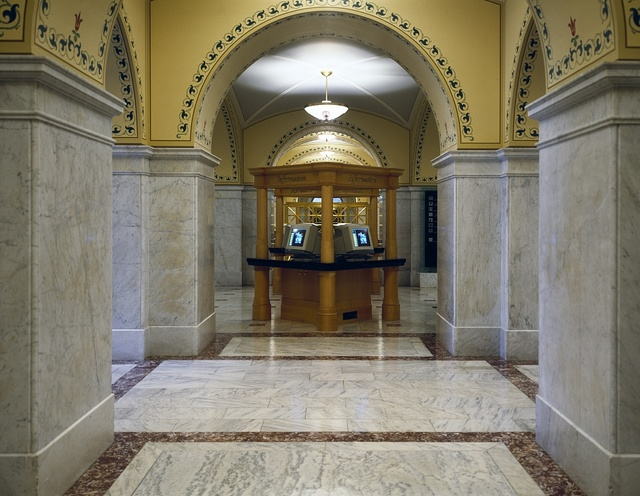 First-floor hallway in the Library of Congress's Thomas Jefferson Building, Washington, D.C.