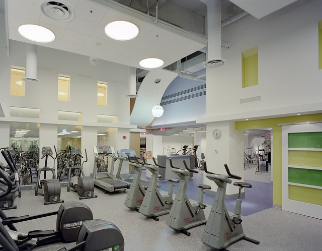 Fitness center in an office building