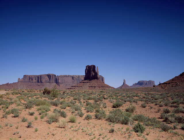 Formations in Monument Valley, a Navajo Nation park largely in Arizona but stretching into Utah