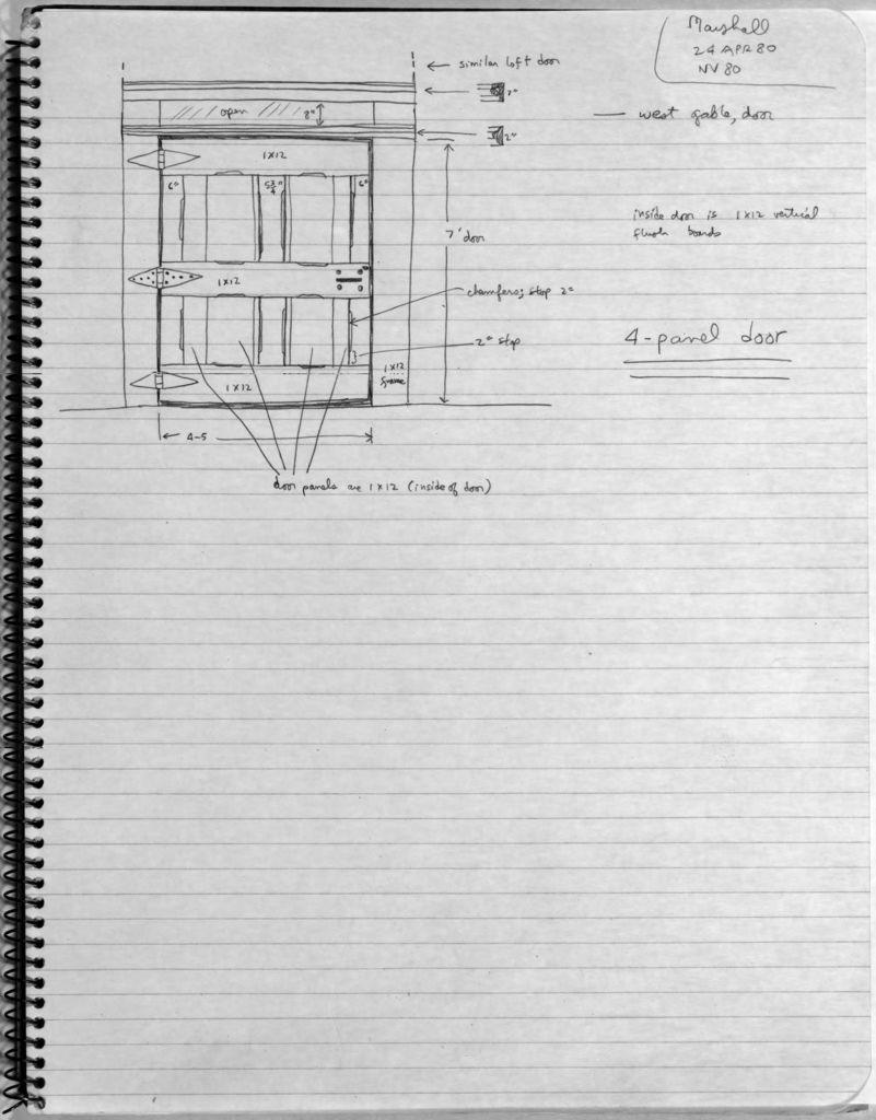 Four-panel Barn Door