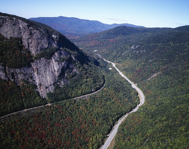 Franconia Notch and Appalachian Trail in New Hampshire