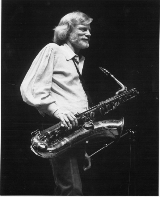 [ Gerry Mulligan with saxophone - 1980]