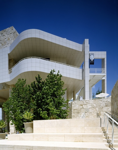 Getty Center, which combines an art museum, gardens, and five research institutes in Los Angeles, California