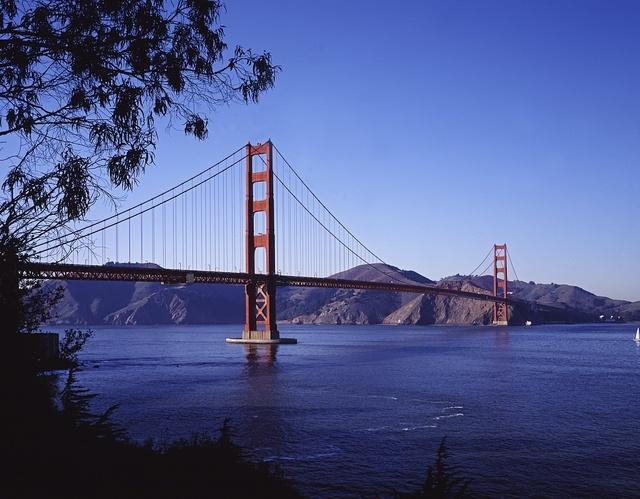 Golden Gate Bridge toward Marin County, California