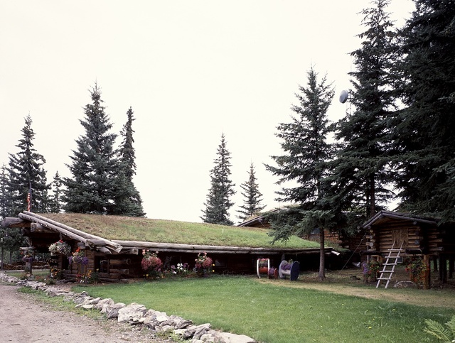 Grass roof helps keep warmth inside in this home, North Pole, Alaska