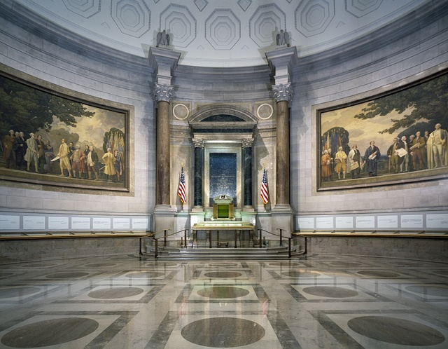 Hall where the nation's Charters of Freedom are displayed, National Archives, Washington, D.C