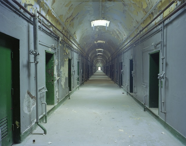 Hallway at the now-abandoned Eastern State Penitentiary, Philadelphia, Pennsylvania
