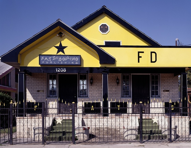 Home of legendary rock 'n' roll singer Fats Domino was severely damaged during Hurricane Katrina in 2005. New Orleans, Louisiana