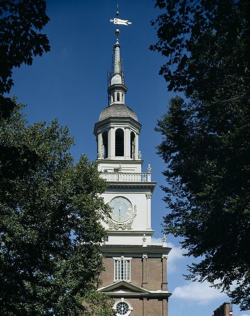 Independence Hall steeple, Philadelphia, Pennsylvania