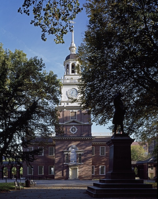 Independence Hall, the Pennsylvania Colony statehouse, where the Declaration of Independence was adopted in 1776. Philadelphia, Pennsylvania