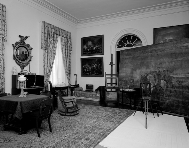 Interior of Robert E. Lee Mansion in Arlington Cemetery, Virginia