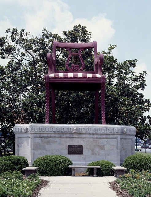 "James Harvey's ""The Chair,"" based on a design of an actual chair by Duncan Phyfe in ""Chair City"" Thomasville, North Carolina"