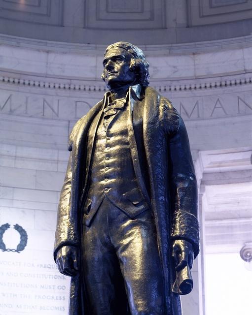 Jefferson statue at the Jefferson Memorial, Washington, D.C.