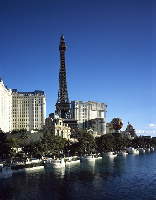 Lake in front of the Bellagio Hotel and Resort, Las Vegas, Nevada