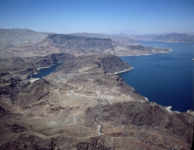 Lake Mead National Recreation Area, formed when Boulder Dam (now Hoover Dam) was built, Boulder City, Nevada