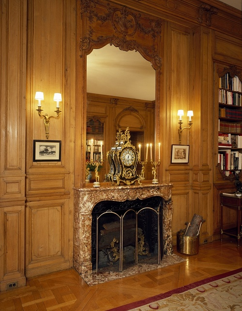 Library detail in the residence of the Ambassador of Belgium, Washington, D.C.