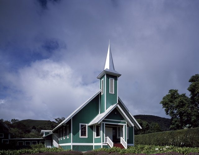 Little church on Oahu Island in Hawaii