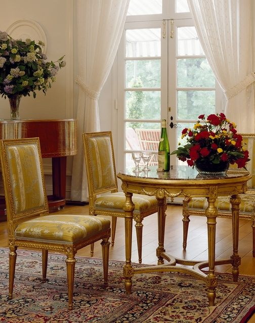 Living room detail in the residence of the Ambassador of France, Washington, D.C.