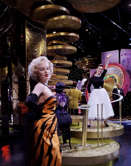 Marilyn Monroe is one of several celebrities memorialized in wax at Madame Tussaud's Wax Museum at the Venetian Hotel and Casino, Las Vegas, Nevada