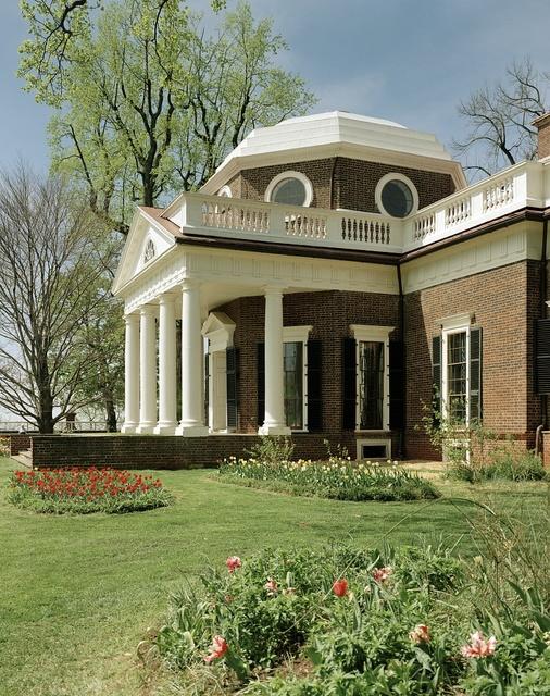 Monticello, Thomas Jefferson's home, Charlottesville, Virginia