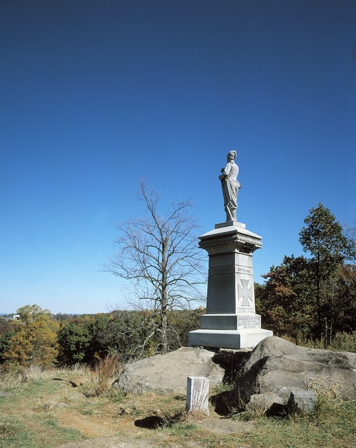 Monument to the 155th Pennsylvania Volunteers at Little Round Top, Gettysburg National Military Park, Gettysburg, Pennsylvania