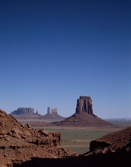 Monument Valley Navajo Tribal Park, which is mostly in Arizona but spills into Utah