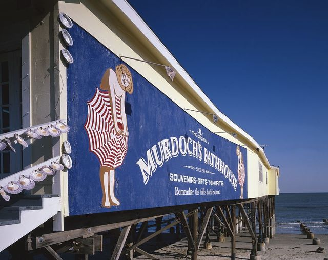 Murdoch's bathhouse sign, Galveston, Texas