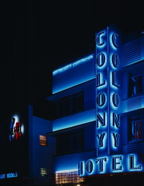 Neon, Colony Hotel, South Beach, Florida