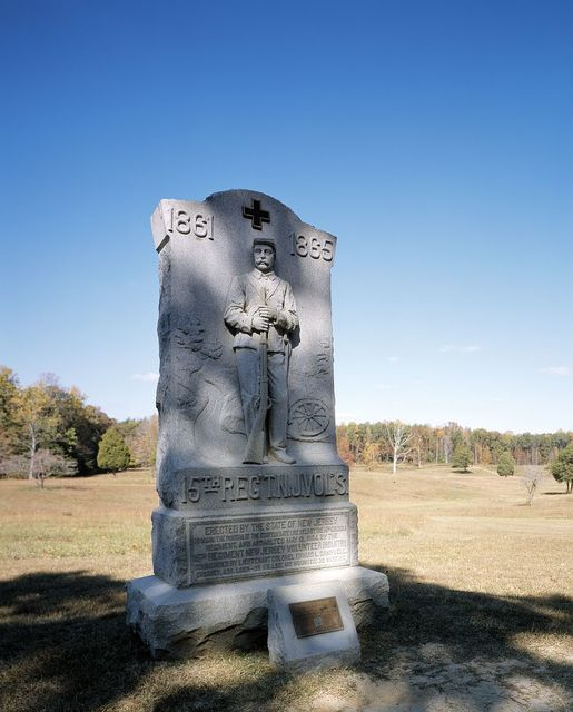 New Jersey monument at the 'Bloody Angle' site of the Civil War Wilderness Campaign in Virginia