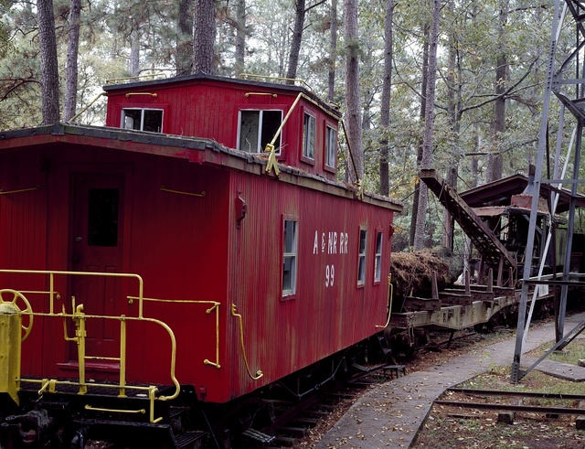 Old caboose at the Texas Forestry Museum, Lufkin, Texas