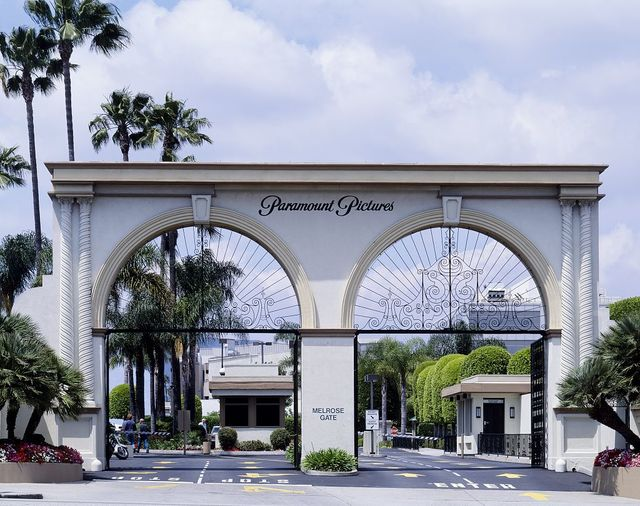 Paramount Pictures entrance gate, Hollywood, Los Angeles, California