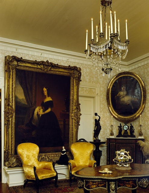 Parlor at the manor house of Parlange, the oldest U.S. plantation still in the same family, New Roads, Louisiana