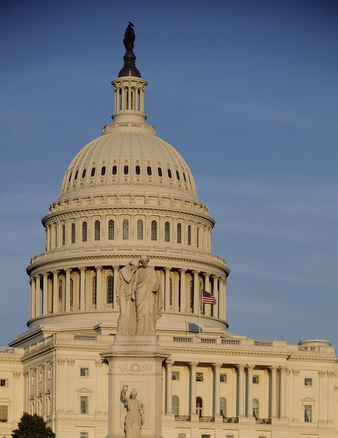 Peace Monument and U.S. Capitol, Washington, D.C.