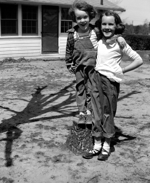 Photographer Carol M. Highsmith, creator of the photographs in the Carol M. Highsmith Archive at the Library of Congress, shown as Carol McKinney at age 4 with her sister Sara at her grandmother's farm in Madison, North Carolina