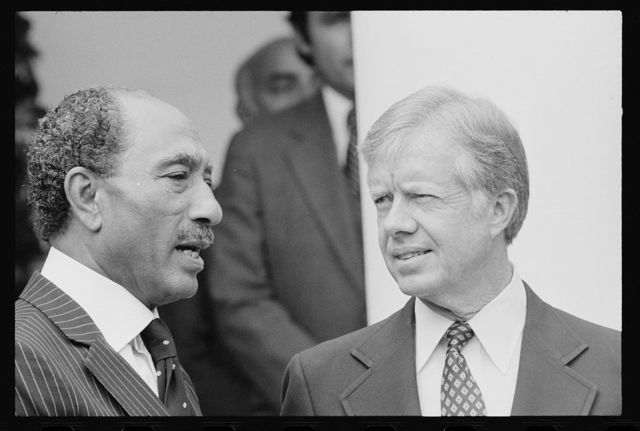 [President Jimmy Carter welcomes Egyptian President Anwar Sadat at the White House, Washington, D.C.]