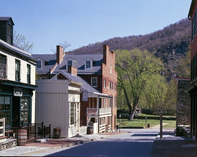 Quiet street in National Historical Park, Harpers Ferry, West Virginia
